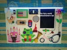"""Pannello sensoriale montessori, """"sensory board"""" legno, personalizzabile handmade"""