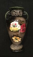Czechoslovakia Floral Vase with double handles - lovely!