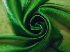 Sparkle Verde Esmeralda Metálico Organza Confección Artesanal Vestido De Tela C6700