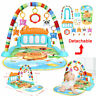 3 in 1 Baby Infant Lay Play Mat Activity Playmat Fitness Music Fun Piano Toy AU