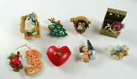 Mixed Lot of 8 Vintage Mostly 1990's Hallmark Christmas Ornaments Decor