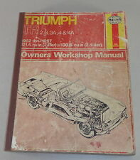 Repair Manual Triumph Tr 2/ 3/ 3A/4/ 4A