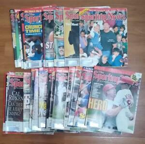 LOT OF 23 - Sporting News Magazine from 1997 thru 1999 / Assorted Issues