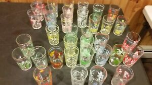 Vintage Welches Jelly Glasses Archie Comic and Flintstones 1971