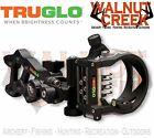TruGlo Rival FX 5-Pin .019 Fiber Optic Black with Push Light TG5915B