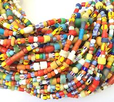 10 Strands Large Size Vintage Christmas Beads Glass African Trade Beads-Ghana
