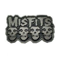 Belt Buckle Metal Misfits Skull Black Belt Head