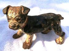 "Hubley Cast Iron Boston Terrier ""Standing"" Puppy Dog Doorstep"