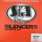 SIT Strings Silencers Semi Flat Comp Wound Extra Light 4 Bass Set NRL4095L for sale