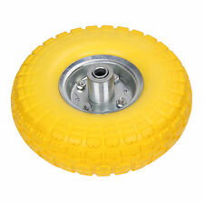 "10"" Solid Rubber Tyre Wheel Replacement No More Flats Sack Truck Trolley Cart"
