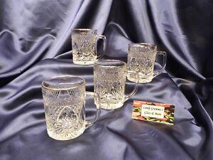 Cris D'arques Durand ANTIQUE Gold Rim Coffee Mug Cup Set of Four