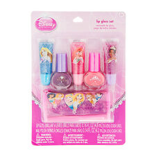 Disney Princess Cosmetic Set Lip Gloss & Nail Polish Pouch Ariel Cinderella NWT