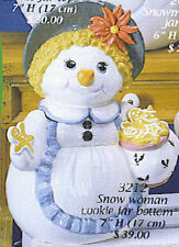 Ceramic Bisque Ready to Paint Snow Woman with gingerbread cookies