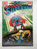 SUPERMAN #257 DC 1972 BRONZE AGE COMIC BOOK