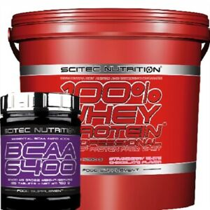 Scitec Nutrition 100 Whey Professional Amino Protein 5kg & Bcaa 6400 125 tabs