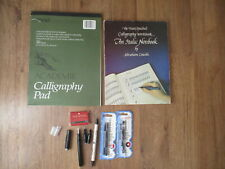 Calligraphy book, paper, pens, ink