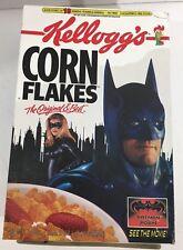 Batman & Robin Kellogg's Corn Flakes Cereal Box 1997 Movie DC Comics