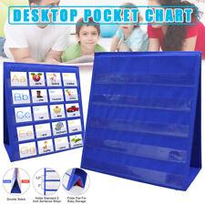 Desktop Pocket Chart Teaching Foladble Tool for Classroom Teacher