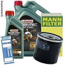 6L Castrol Magnatec Stop-Start C3 5W-30 Öl Motoröl + MANN Ölfilter für MB / VW
