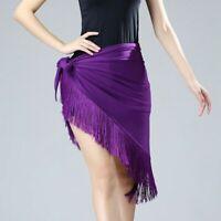 Lady Latin Fringe Dance Hip Wraps Scarf Skate Skirts Ballroom Tango Rumba Modern