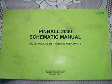 Pinball Bally/Williams 2000 Manual de esquemas