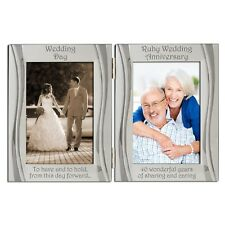 Ruby 40th Wedding Anniversary Double Photo Frame 4 x 6 Inch