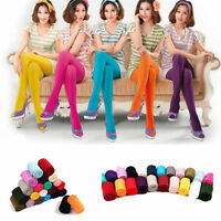 Colorful Women Thick Pantyhose Stocking Opaque Footed Tights Hosiery Winter Warm