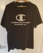 *NEW WITH TAGS RRP £19* Champion Logo Rochester N.Y. T-Shirt Black Size L