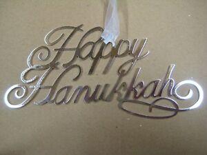 Happy Hanukkah Metal Ornament by Kurt Adler