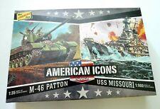 Lindberg Line American Icons M-46 Patton & U.S.S. Missouri Model Kits - New