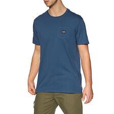 Billabong Stacked camiseta para hombre-Azul Denim Todas Las Tallas