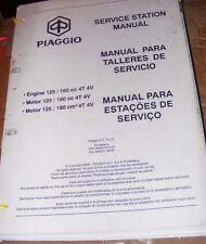 PIAGGIO ENGINE 125 / 180cc 4T 4V SERVICE STATION MANUAL