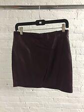DAY BIRGER ET MIKKELSEN - Burgundy Leather Skirt Opening Ceremony ASOS S 36 NWT