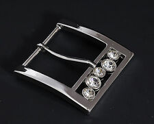 """Prong Pin Belt Buckle(#4028) 1 1/2"""" (38mm)  silver Color with rhinestone New"""