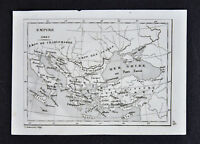 1835 Levasseur Map - Greek Empire Charlemagne Greece Turkey Italy Constantinople