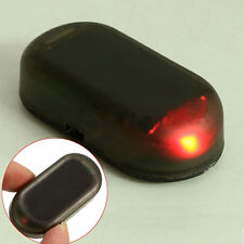 Coche de energía solar alarma ficticia advertencia estimulado Antirrobo Luz Intermitente LED Rojo