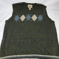Men's Woolrich Sweater Vest V-Neck Pullover Size Large