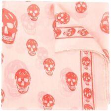 Alexander McQueen Skull Scarf In Cream/Orange