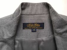 Brooks Brothers Women's Coat - Gray Lined Wool - Button Down Career - Size 4