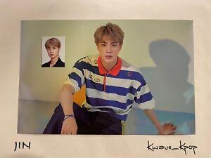 [BTS 2020 SEASONS GREETINGS] JIN MINI POSTER + ID PHOTO CARD SET - GENUINE