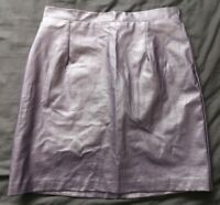 River Island Women's Purple Metallic Skirt Size 8 Good Used Condition