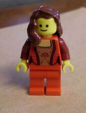 Lego Figur Female Guest ( City Stadtbewohner Town Frau weiblicher Gast rot ) Neu