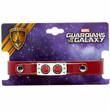 Marvel Guardians of the Galaxy Starlord Mask Suit Pleather Red Snap bracelet NEW