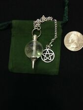 Pentagram Pentacle Clear Quartz Gemstone Pendulum Healing Reiki Dowsing 16