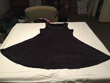 Torrid Ultra Suede Studded Collar Tank Dress Size 2 Charcoal Gray