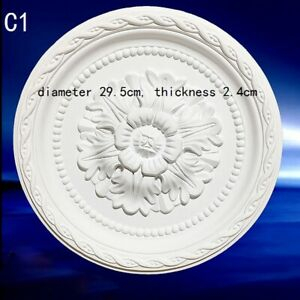 Polyurethane Ceiling Rose PU Onlay Home Decor Ornate Victorian Retro 23cm/29.5cm