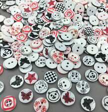 100pcs Mixed Resin Round buttons Fit Sewing craft decoration 13mm