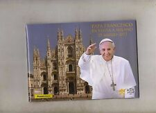 folder postale 2017 -  papa francesco in visita a milanop 25 marzo 2017 -