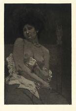ARMAN RASSENFOSSE - FEMME NUE - Radierung 1904