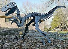 Raptor Velociraptor dinosaur metal sculpture artwork puzzle for the yard